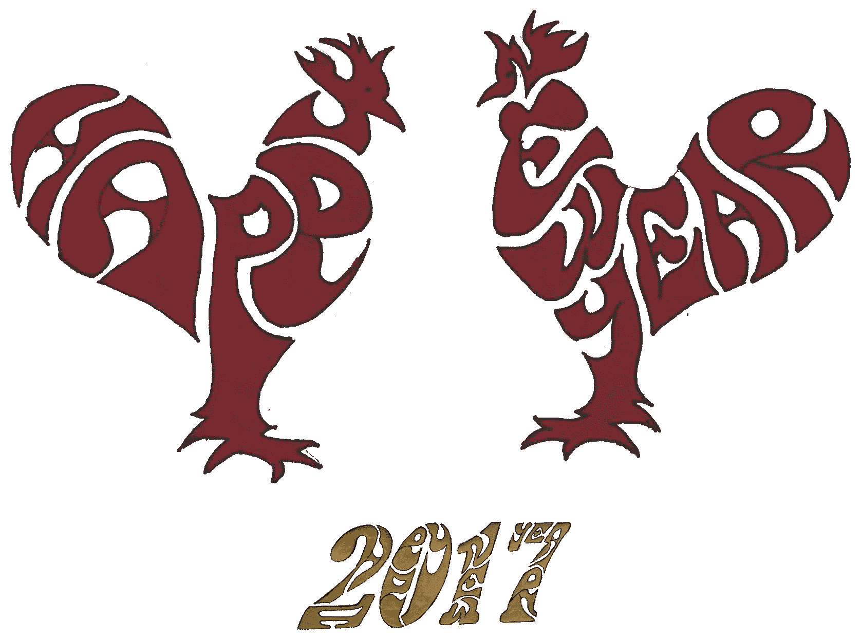 Happy New Year 2017 Rooster